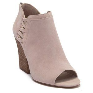 NEW Vince Camuto Kassa Open Toe Bootie Taupe 7.5